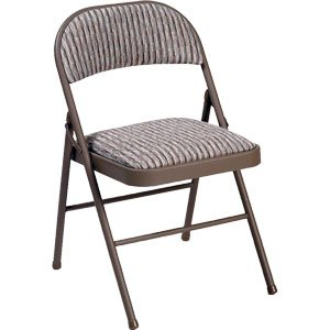 Deluxe Padded Steel Fabric Folding Chair - Brown produced - quick delivery from UK.