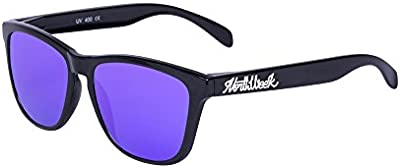 Northweek Regular Shine Black - Purple Polarized - Gafas de sol unisex, negro