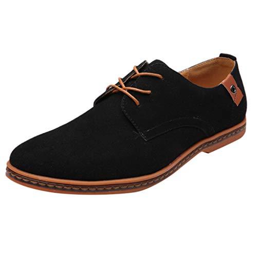 Yazidan Herren Freizeit Schuhe aus Leder Business Anzugschuhe Atmungsaktiv Lederschuhe Oxford Halbschuhe Party Hochzeit übergrößen 38-48