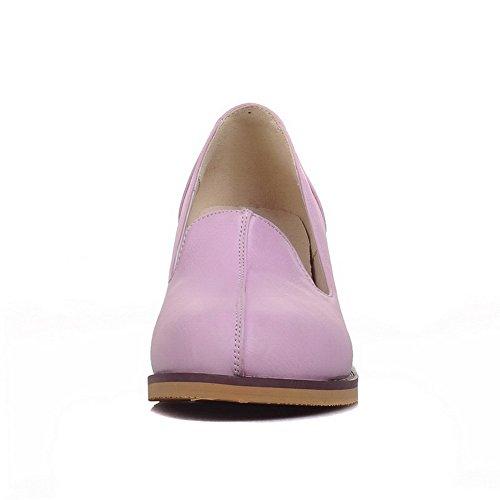 BalaMasa da donna, tacco quadrato, in materiale morbido antiscivolo, pompe-Shoes Purple