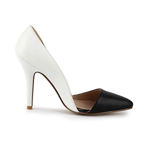 Miyoopark , Sandales Compensées femme White/Black-9.5cm Heel
