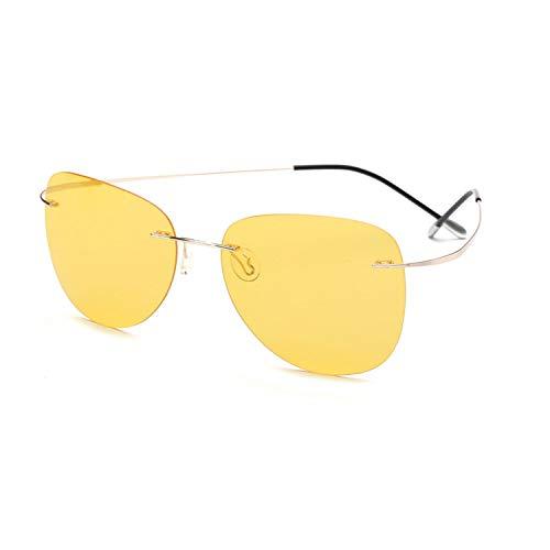 cool show Mit Etui polarisierte Sonnenbrille randlos Herren Sonnenbrille Gr. Einheitsgröße, Zp2117 C9 Case
