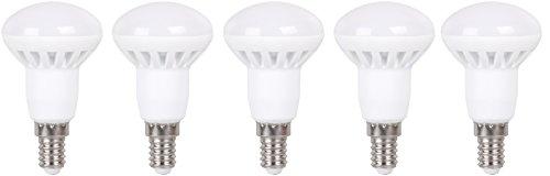 XQ-lite 5-er-Pack LED-Reflektor Lampe R50 E14, 6 W ersetzt 35 W, 400 lm, Energieklasse A+, warm weiß XQ1380-5