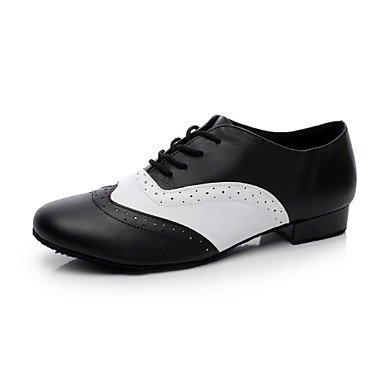 Aemember uomini's scarpe da ballo tacco piatto nero,bianco e nero,US8 / EU40 / UK7 / CN41 US6-6.5 / EU38 / UK5-5.5 / CN38