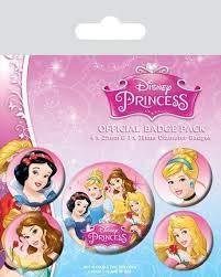 Pyramid International Disney Princess Belle/Cinderella/Schneewittchen und Aurora Badge, mehrfarbig, 10x 12,5x 1,3cm