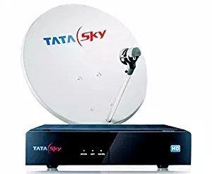 TATASKY HD Set Top Box 1 Month Dhamaka HD Pack-Black