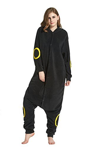 sex Jumpsuit Tier Cartoon Fasching Halloween Pyjama Kostüm Onesie Fleece-Overall Schlafanzug Nachtelf Medium ()