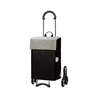 Andersen Shopping trolley Scala with bag Hera silver, Volume 44L, steel frame and Stair-climbing wheels
