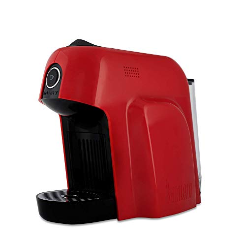 Bialetti Smart Macchina da Caffè Espresso per Capsule in Alluminio sistema Bialetti il Caffè d\'Italia, 1200 W, Rosso