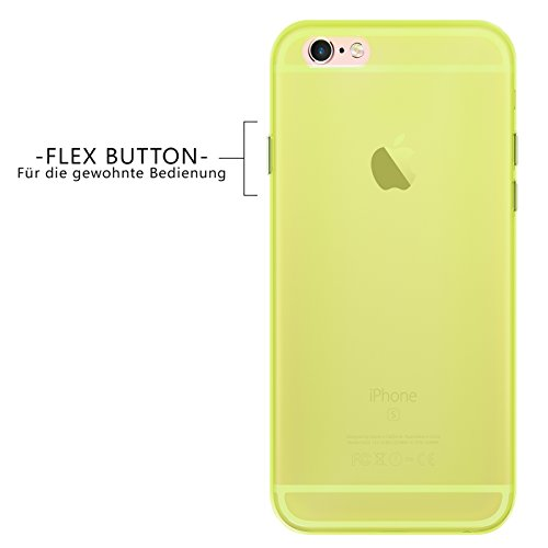 Apple iPhone 6S 6 Plus Hülle Case, Conie Liquid Crystal Ultra Dünn Crystal Clear Transparent Handyhülle Cover Soft Premium-TPU Durchsichtige Schutzhülle Backcover Slimcase für Apple iPhone 6S 6 Plus Gelb