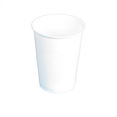 Trinkbecher 0,2l Ausschankbecher Becher Plastikbecher Hell Weiß - 200ml Volumen (3000 Stück) Weiße Becher