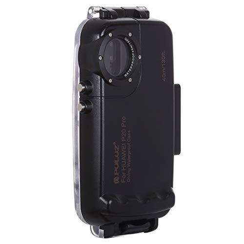 wasserdichte Tasche Wasserdichter Packsack PULUZ 40m / 130ft Tauchen Telefon Schutzhülle für Huawei P20 Pro 6,1 Zoll Surfen Schwimmen Schnorcheln Foto Video Kanufahren Rafting Schwimmen (Black) -