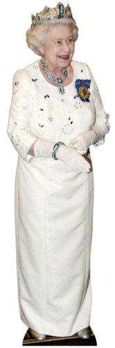 Pappaufsteller Queen Elizabeth II - Crown (Krone) Aufsteller Standup Figur Kinoaufsteller Pappfigur Cardboard Lebensgroß Life-Size ()