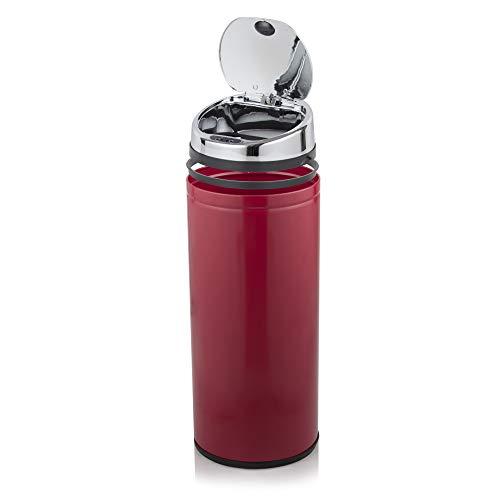 Morphy Richards 42 litros papelera de rejilla de ventilación redonda de Sensor, rojo
