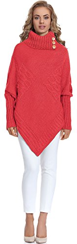 Merry Style Damen Poncho Moena(Coral, One Size)