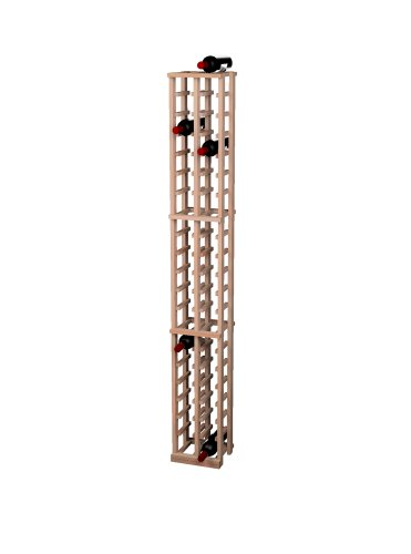 Wine Cellar Innovation Cantina innovazioni Tradizionale Premium Redwood 2 Colonna Vino Rack, Unstained