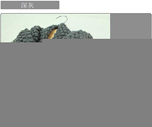 MEICHEN-Bib Lady kernel sciarpe di lana per l'autunno/inverno Dress shirt collari,grigio scuro