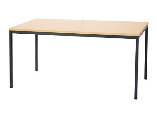 Schreibtisch Ahorn Dekor Besprechungstisch Büromöbel Verkaufstisch Vielzwecktisch 200x100cm 331142