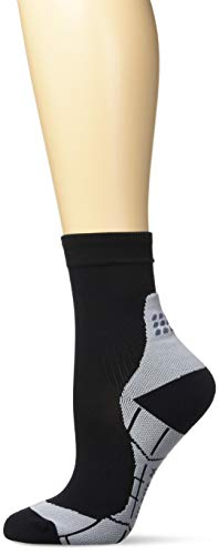 CEP - Short Socks 2.0 für Damen | Kurze Laufsocken mit Kompression in schwarz/grau | Größe III