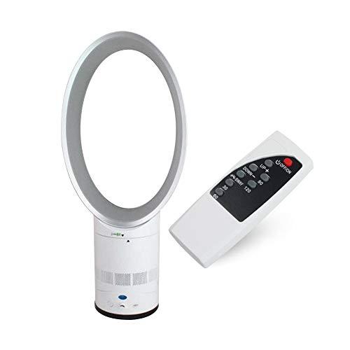 ZSLGOGO Ventilateur de Sol, Ventilateur sans Lame avec télécommande et Minuterie, Vitesse du Vent réglable, Fonction Oscillation, Faible Bruit 45dB