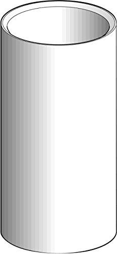Schneider XVBC020 Rohrverkleidung L=100Mm, Aluminium schwarz, Xvb (100 Pic L)
