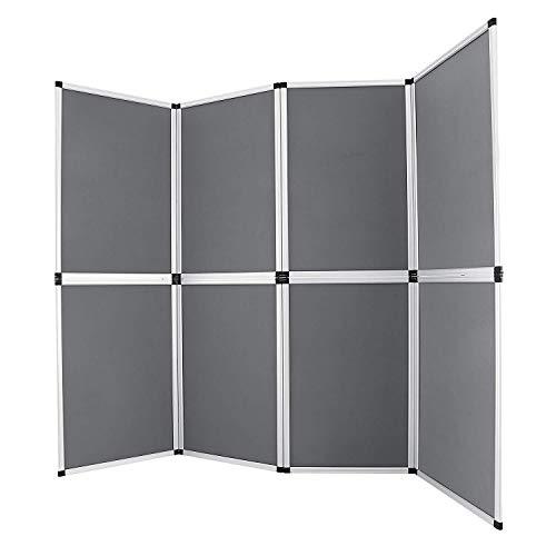 Buoqua HY09-1 Trade Show Display 8pcs folding display stand 61x91cm messewand faltwand room divider wall Presentation Board (HY09-1)
