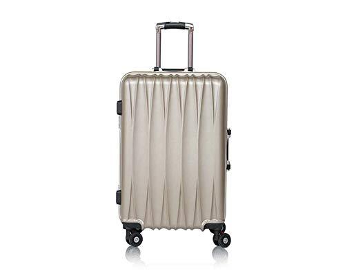Trolley-Koffer Rotierender leichter Koffer Koffer, Luxus, moderner Kabinenkoffer-Trolley-Koffer, 360 ° Plane-Rad-freier spinnender Koffer(20 inches,Khaki)