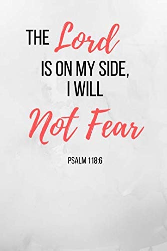 de I Will Not Fear: Small Bible Verse Notebook/Journal 120 Page (6''x 9'') ()