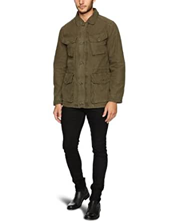 Dockers Herren Parka 07137 / Dockers® Washed Cotton Military Field Coat, Gr. 50 (M), Grün (0001 Olive)