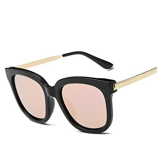 Shiduoli Runde Sonnenbrille für Männer Frauen mit Kunststoffrahmen Radfahren Laufen Fahren Angeln Leichte Platz Sonnenbrille Für UV400 Schutz (Color : B)