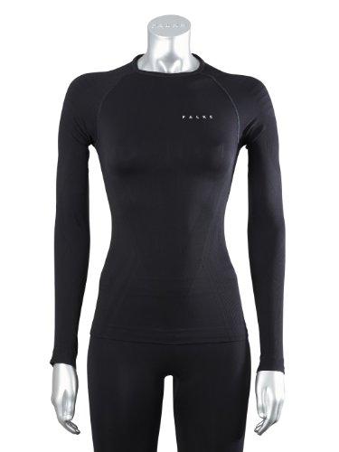 FALKE Damen Running Unterwäsche Athletic Shirt Long Sleeve, black, XL, 39051