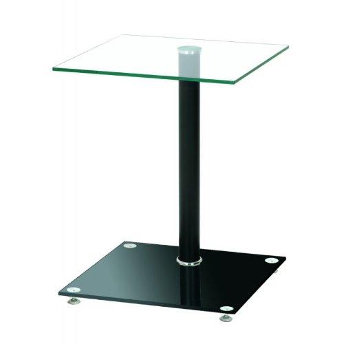 Haku Möbel 33505 Table Basse d'Appoint Noir-verre transparent