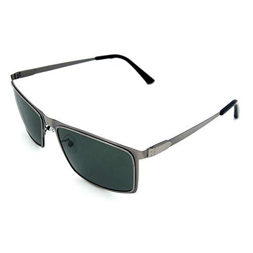 Honneury Herren Square UV-Schutz polarisierte Brille, Sonnenbrille im klassischen Stil (Farbe : Dark Green)