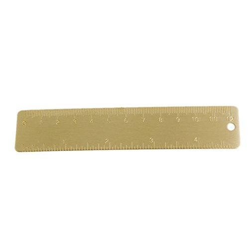 Kcopo Tragbare Lineal Mini Messing Lineal Meßlineal Werkzeug Kalibrierten Skala Lineal Maßstab Lineal Messwerkzeuge Für Student und Architekt -
