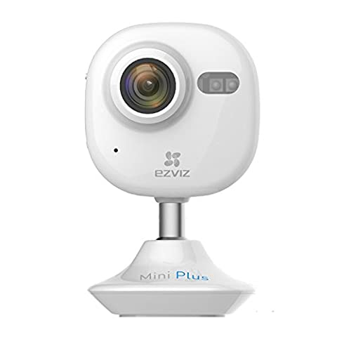 EZVIZ Mini+ (Plus) 1080P High Definition WiFi Surveillance Smart Home IP Camera, Monitor Video From Anywhere, Works with Alexa IFTTT – White