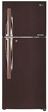 LG 260 L 3 Star Inverter Linear Frost-Free Double-Door Refrigerator (GL-T292RASN, Amber Steel, Convertible)