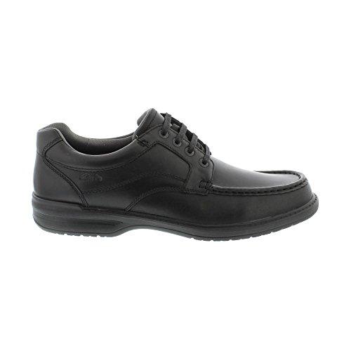 Clarks Détente Habillé Homme Chaussures Keeler Walk en Cuir Noir Black