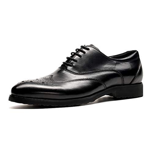 RSHENG Herren Oxford Bullock Round Sneakers Herren Freizeitschuhe Atmungsaktive Krawatte Spitze Arbeitsschuhe Rutschfest -