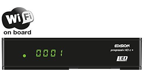 Edision Progressiv HDC + Nano Plus LED Full HD Receptor de satélite...