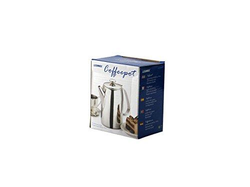 Hotelware Tavola servire Inox tazzine 3 Moka Caffettiere e Guarnizioni, Acciaio