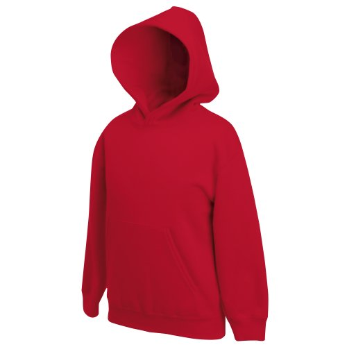 Fruit Of The Loom Pullover mit Kapuze für Kinder (7-8) (rot) 7/8,Rot Jungen Hoodies 8 20