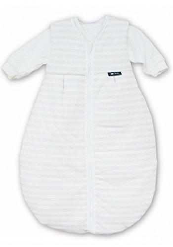 Alvi Kombi-Schlafsack 2-tlg. Blockstreifen beige 70 cm