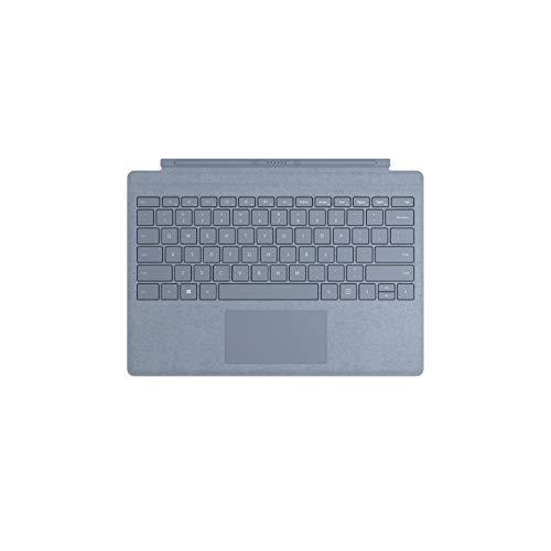 Microsoft - Signature Type Cover pour Surface Pro - clavier compatible Surface Pro 3/4/5/6/7 (Alcantara, rétroéclairage LED, pavé tactile en verre) - Bleu Glacier [Nouvelle couleur 2019] (FFP-00124)