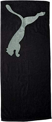 Puma TR ESS Towel Handtuch, Black/Laurel Wreath, UA