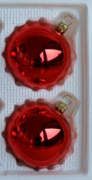 Albero di Natale decorazione albero di Natale decorazione palline rosso lucido 2D 12cm vetro soffiato e Lauscha l' originale