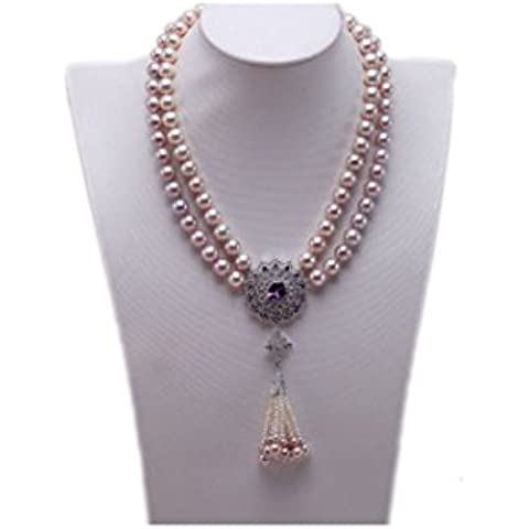 jyx doppio rotonde LAVANDA naturale, 10mm perla