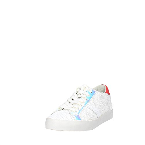 D.A.T.E. HILL LOW POP PIZZO sneaker donna in pelle Bianco