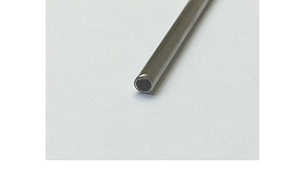 sourcing map Ottone Tubo Tondo 300mm Lunghezza 0,2mm Spessore Parete Senza Saldatura Tubazione Rettilinea Tubing 6mm OD x 0.2mm Wall,2Pcs