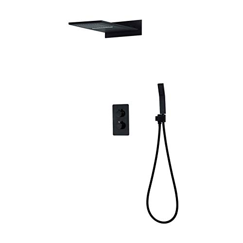Duschsysteme Verdeckte Dusche Kupfer Konstante Temperatur Vorinstallierte Box Drei Funktionen Fly Rain Top Spray JFYCUICAN -