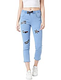 TheDry State Womens Denim Printed Jeans Jogger GB06970-$P